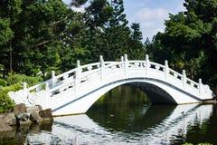 Chinesische Mond-Brücke über Wasser lizenzfreie stockbilder