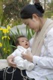 Chinesische Mutter und Sohn Lizenzfreie Stockfotos
