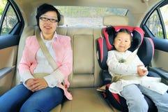 Chinesische Mutter und Tochter stockfotos