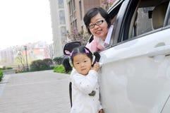 Chinesische Mutter und Tochter lizenzfreie stockbilder