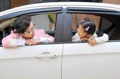 Chinesische Mutter und Tochter lizenzfreies stockfoto