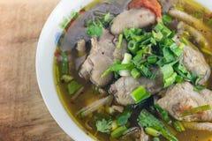 Chinesische Nahrung in einer Gaststätte Stockfotografie