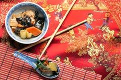 Chinesische Nahrung - Sichuan-Huhn Lizenzfreies Stockbild
