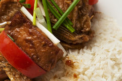 Chinesische Nahrung - Tomaten und Fische Stockfoto