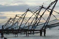 Chinesische Netze, Fort Cochin lizenzfreie stockfotografie