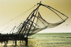 Chinesische Netze in Kochi Lizenzfreies Stockfoto