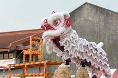 Chinesische neue Jastimme Penangs Malaysia, das Löwe danse Lizenzfreies Stockfoto
