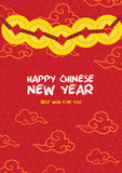 Chinesische neues Jahr-Karte Lizenzfreie Stockfotos