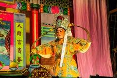 Chinesische Oper im jährlichen Schreinfestival Stockbilder
