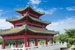Chinesische Pagode - Des Moines Iowa Lizenzfreies Stockbild