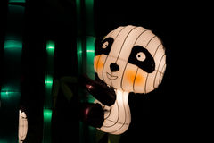 Chinesische Pandalaterne lizenzfreie stockfotografie