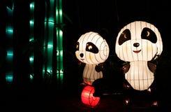 Chinesische Pandalaterne lizenzfreie stockfotos
