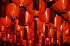 Chinesische Papierlaternediagonale Stockbilder