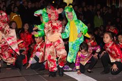 Chinesische Parade des neuen Jahr-2012 in San Francisco Stockfotos