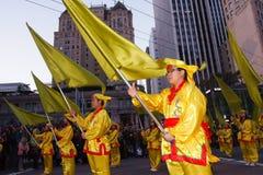 Chinesische Parade des neuen Jahr-2012 in San Francisco Stockbild