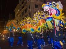 Chinesische Parade des neuen Jahres Stockfotos