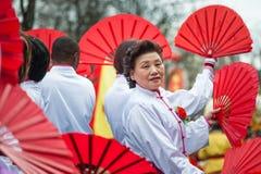 Chinesische Parade des neuen Jahres in Paris Stockfoto