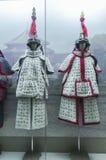 Chinesische Qing-Dynastie-Soldatrüstung Stockfotografie