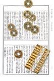 chinesische Rechenmaschine und Münzen Lizenzfreie Stockfotos