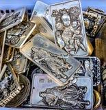 Chinesische Replik-Silber-Medaillon-Charme Panjuan-Flohmarkt ist stockfotos