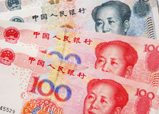 Chinesische RMB Anmerkungen Stockfoto