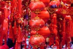 Chinesische rote Dekorationen Stockbilder
