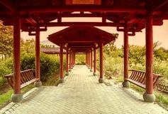 Chinesische rote Galerie Lizenzfreies Stockfoto