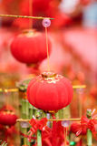 Chinesische rote Laternen Stockfoto