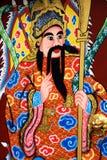 Chinesische schöne Künste auf der Tempel-Tür Stockbilder