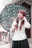 Chinesische Schönheit im Freien. Lizenzfreie Stockfotos