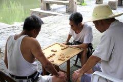 Chinesische Schachabgleichung stockbild