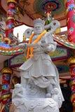 Chinesische Skulptur gemacht vom Stein verziert innerhalb des Schreinbereichs Lizenzfreie Stockfotografie