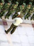 Chinesische Soldaten stockfotos