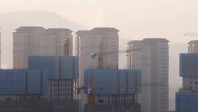 Chinesische Stadt von Gesamtlänge Kunmings im Bau noch stock video