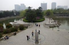 Chinesische Stadt von Handan, Hubei stockfoto