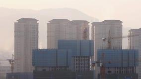 Chinesische Stadt von Kunming im Bau stock video