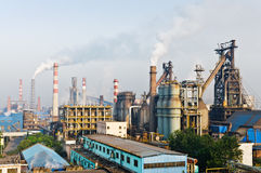 Chinesische Stahlwerkrauchverschmutzung Lizenzfreies Stockbild