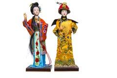 Chinesische Statuen im nationalen Kostüm Stockbilder