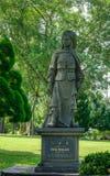 Chinesische Steinstatue in Singapur lizenzfreies stockfoto
