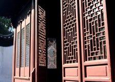 Chinesische Tür im Yu Garten Lizenzfreies Stockbild