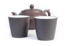 Chinesische Teekanne mit Teetasse Lizenzfreies Stockbild