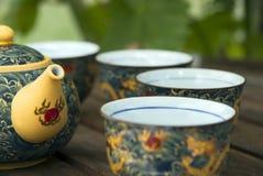 Chinesische Teekanne und Cup Stockfotos