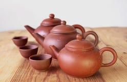 Chinesische Teekanne und Teetasse Stockbilder