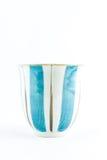 Chinesische Teetasse auf weißem Hintergrund Stockfoto