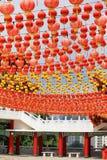 Chinesische Tempel-Laternen Lizenzfreies Stockbild