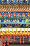 Chinesische Tempel-Laternen Lizenzfreie Stockfotos