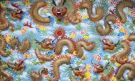 Chinesische Tempel-Wand-Kunst Stockfoto