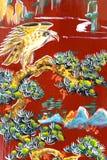 Chinesische Tempel-Wand-Kunst Stockbild