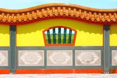 Chinesische Tempelfensteransicht stockfoto
