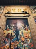 Chinesische Tempeltür Lizenzfreies Stockfoto